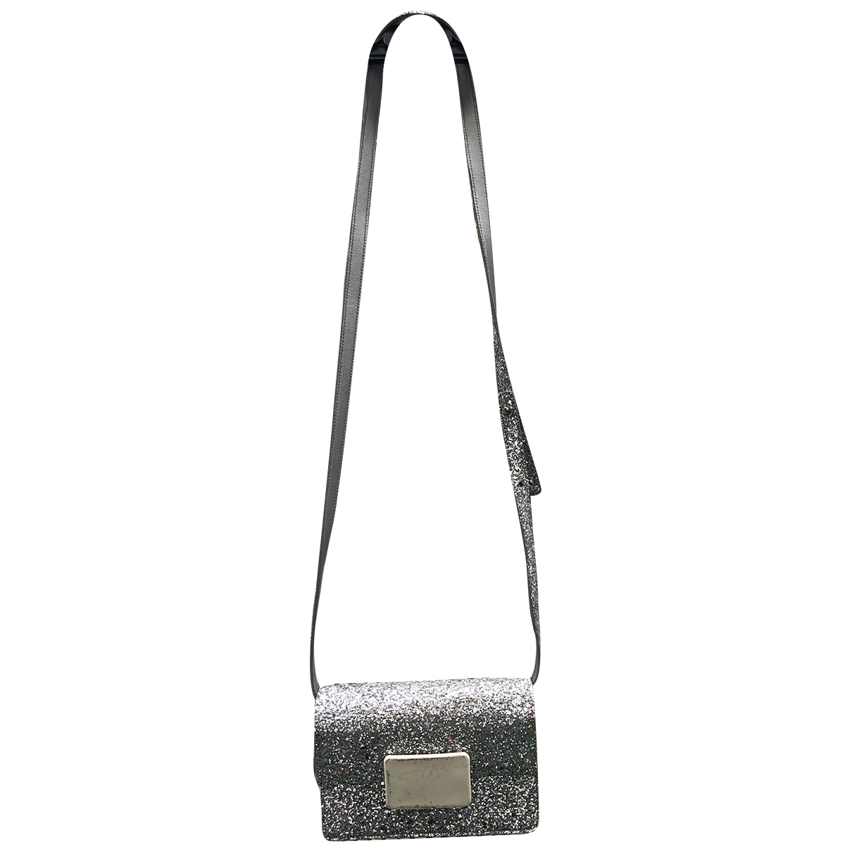 Saint Laurent Lulu Silver Glitter handbag for Women N