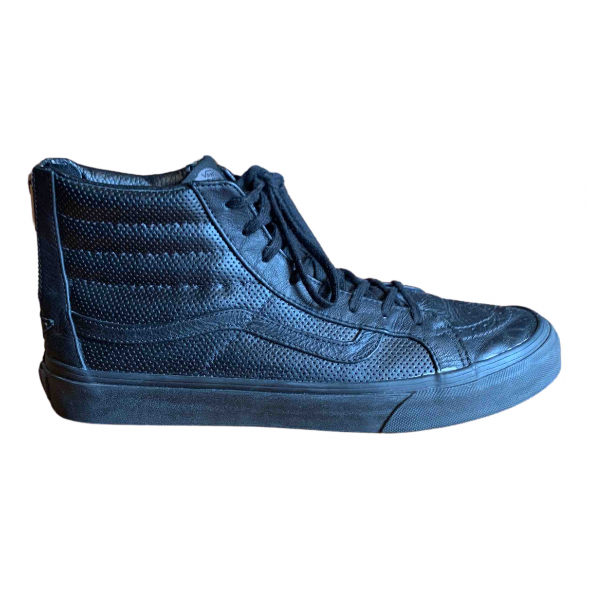 Vans N Black Leather Trainers for Women 10.5 US