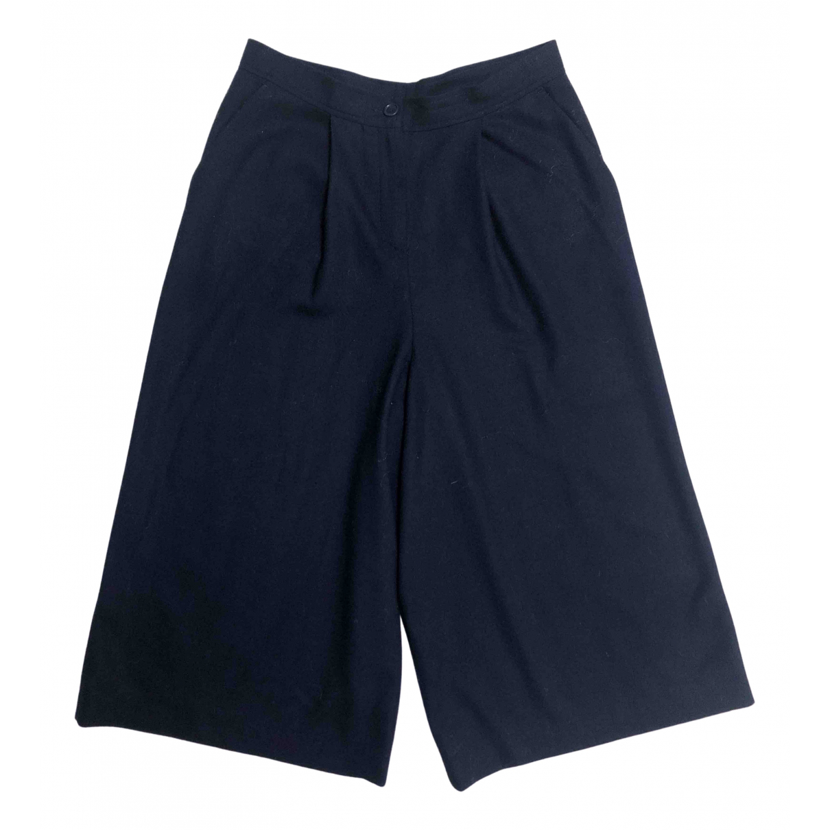 Rue Blanche \N Navy Wool Trousers for Women M International