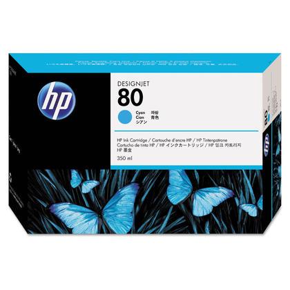 HP 80 C4846A cartouche dencre originale cyan 350ml