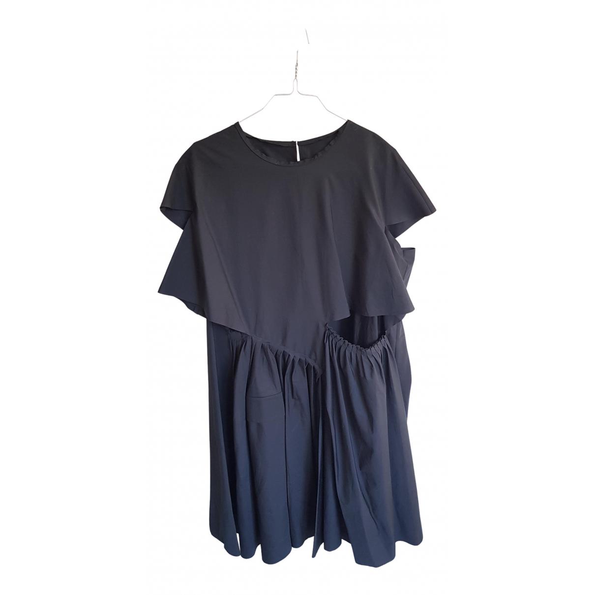 Maison Martin Margiela \N Kleid in  Schwarz Baumwolle