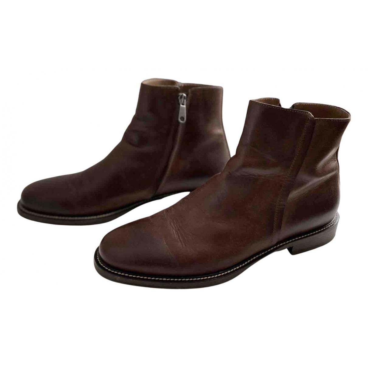 Brunello Cucinelli \N Stiefel in  Braun Leder