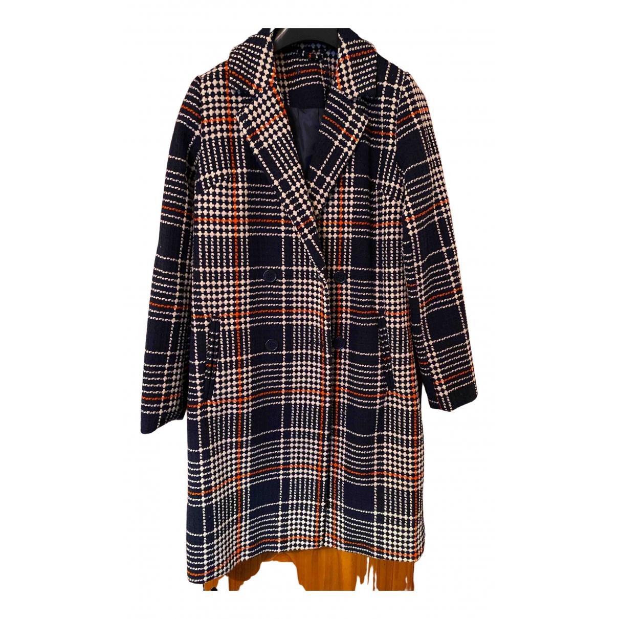 - Manteau   pour femme en laine - multicolore