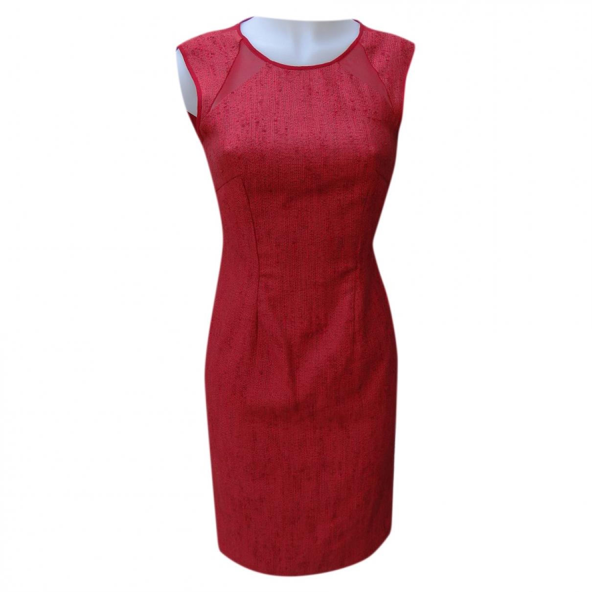 Versace \N Kleid in  Rot Seide