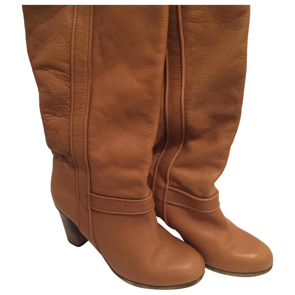 Comptoir Des Cotonniers \N Leather Boots for Women 37 EU