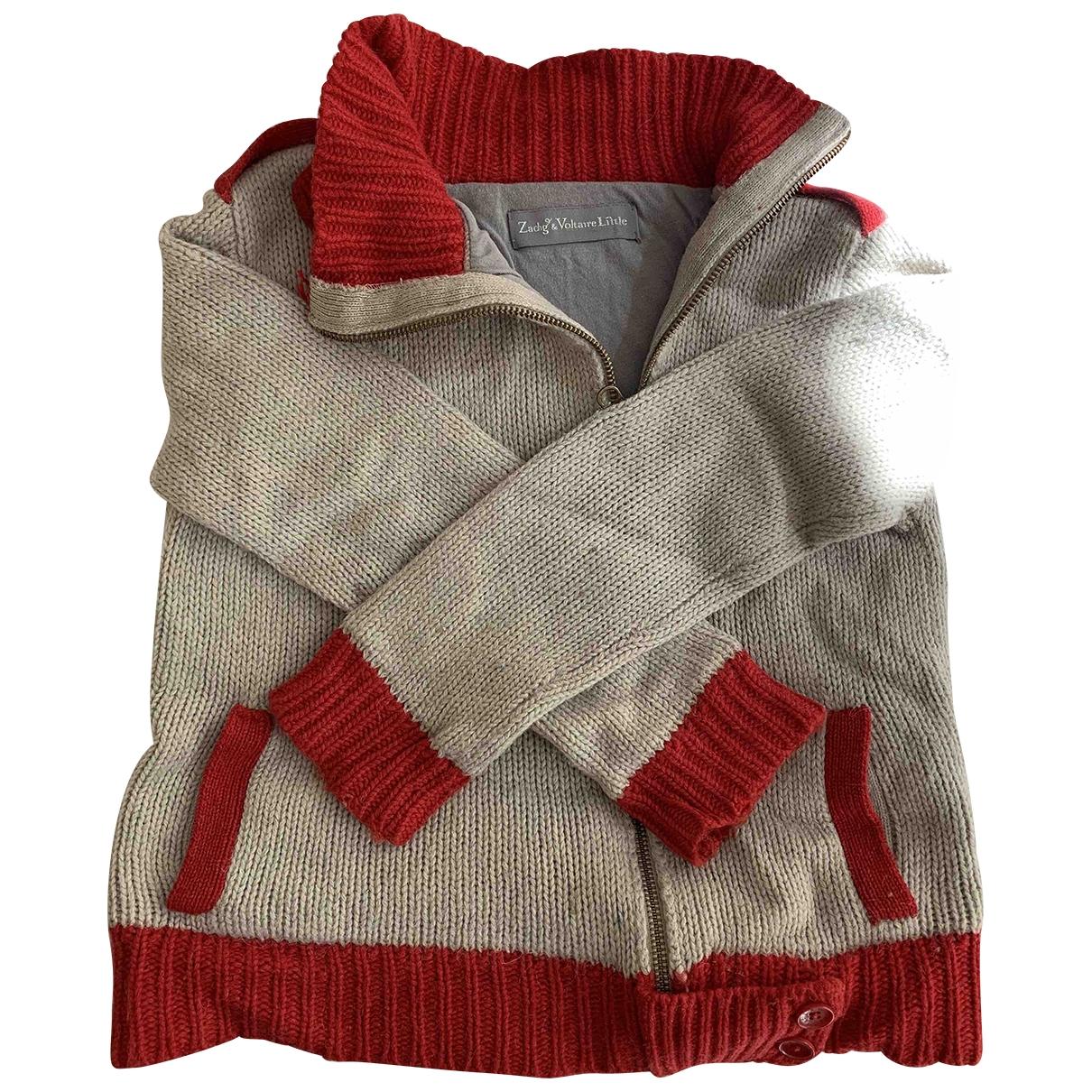 Zadig & Voltaire - Pull   pour enfant en laine - beige