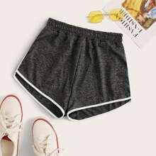 Shorts unido en contraste
