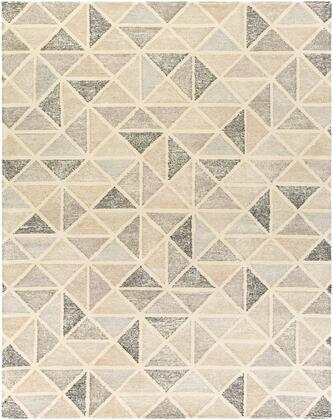 Melody MDY-2004 6' x 9' Rectangle Modern Rug in Black  Charcoal  Medium Gray  Camel