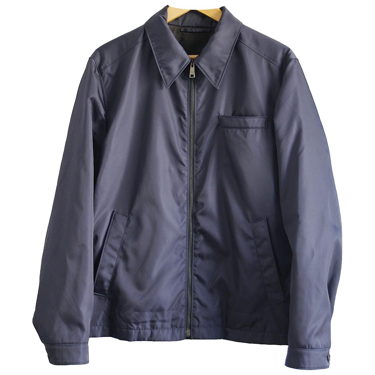 Prada - Manteau   pour homme - marine