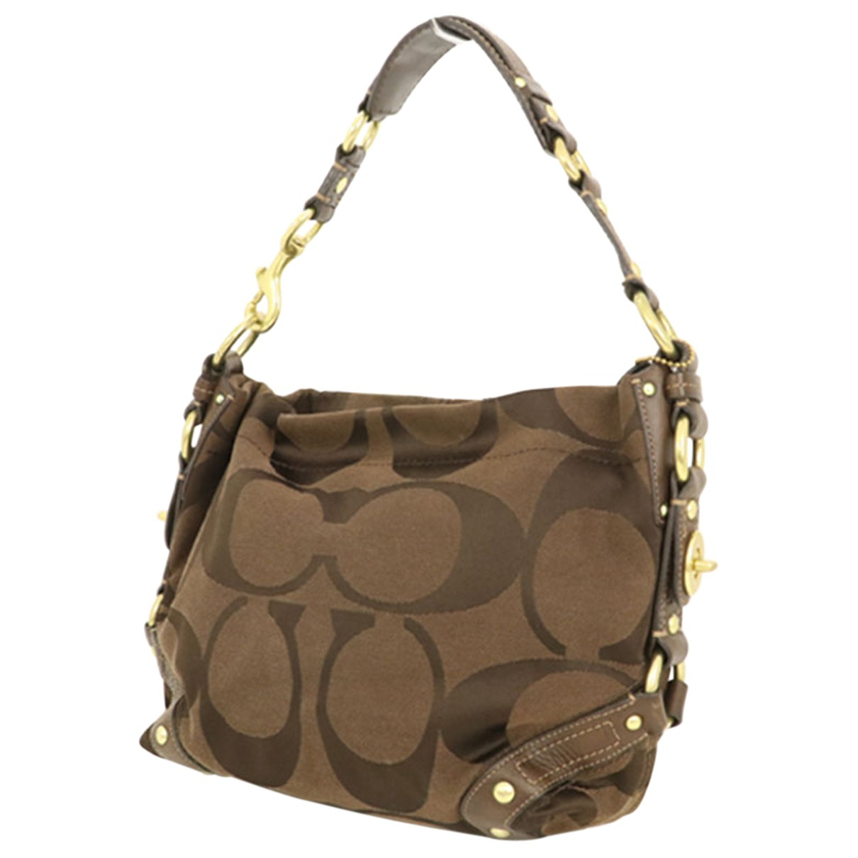 Coach N Brown Leather handbag for Women N