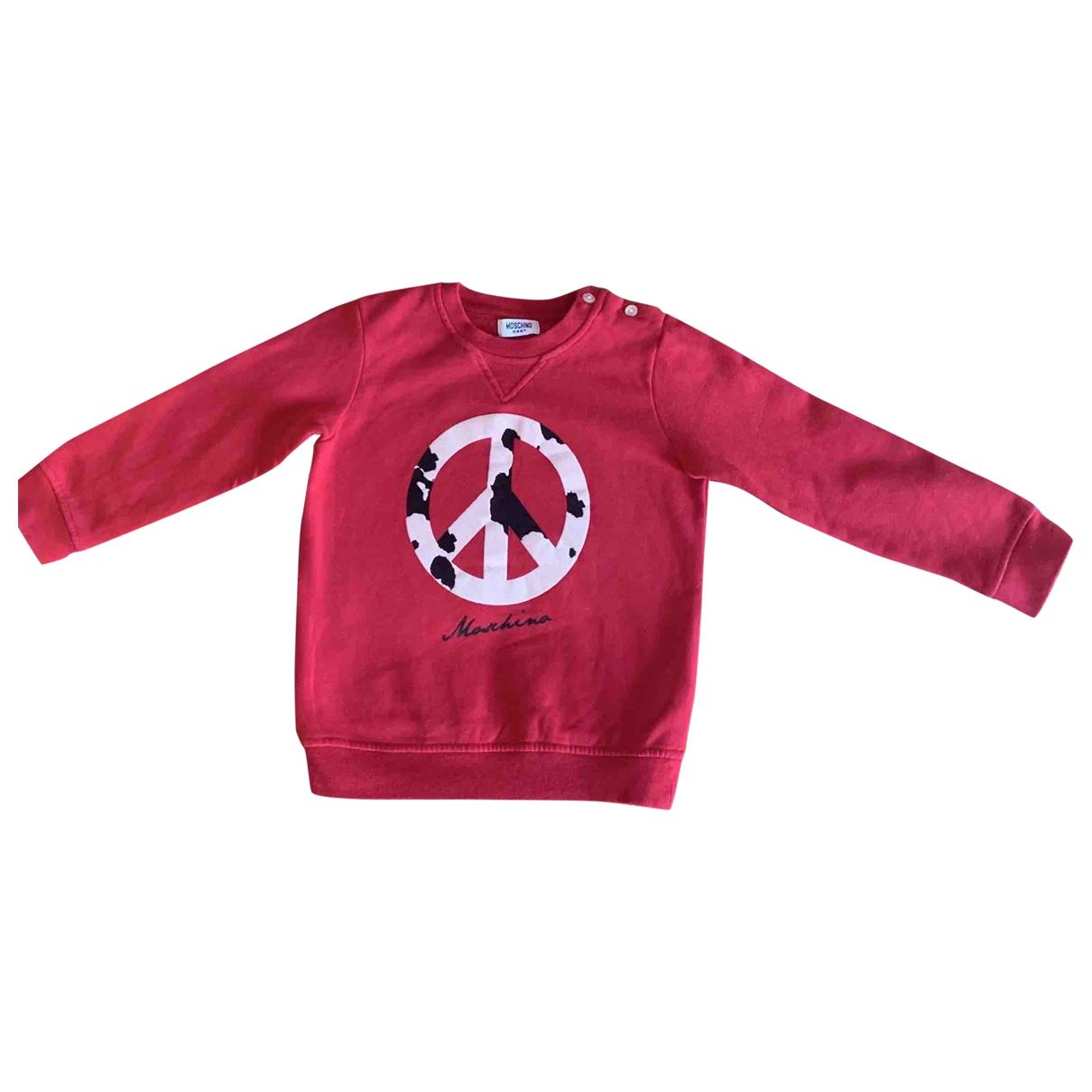 Moschino \N Pullover, StrickJacke in  Rot Baumwolle