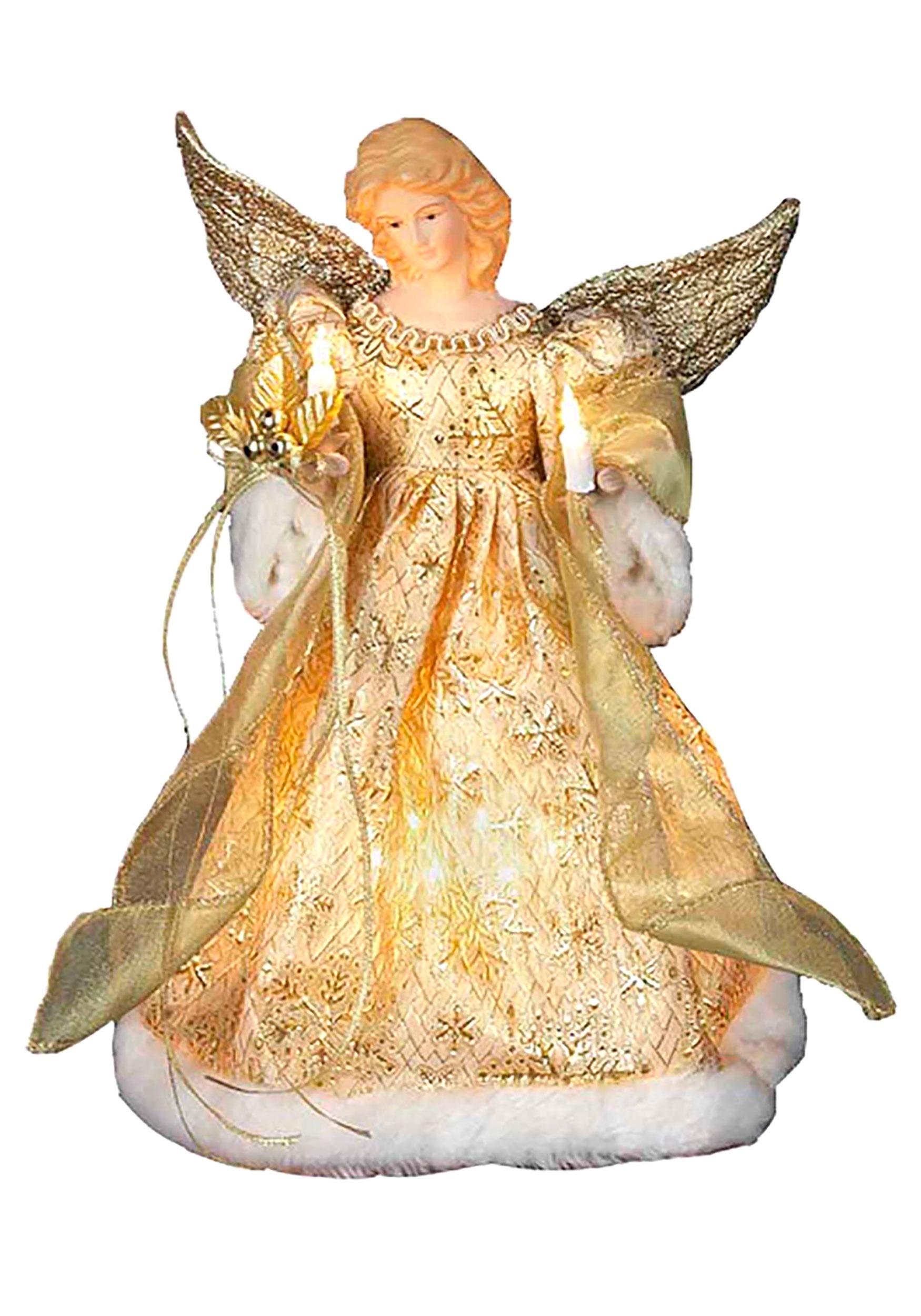 Gold Dress Angel Christmas Tree Topper