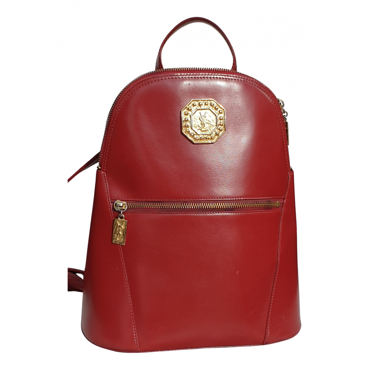 Yves Saint Laurent N Red Leather backpack for Women N