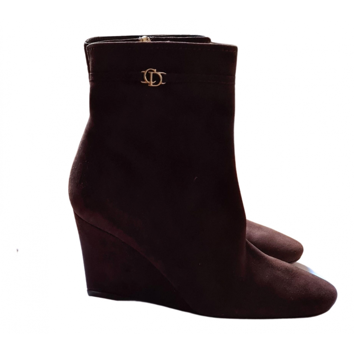 Christian Dior - Boots   pour femme en suede - marron