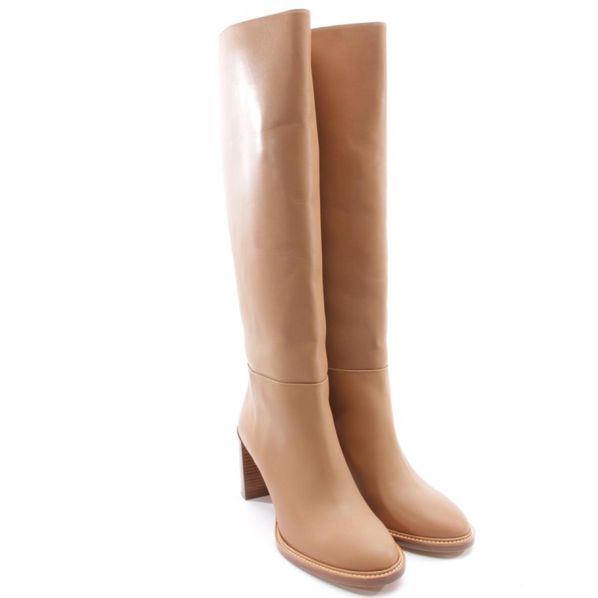 Gabriela Hearst - Bottes   pour femme en cuir - beige