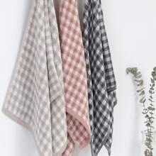 1pc Gingham Pattern Towel