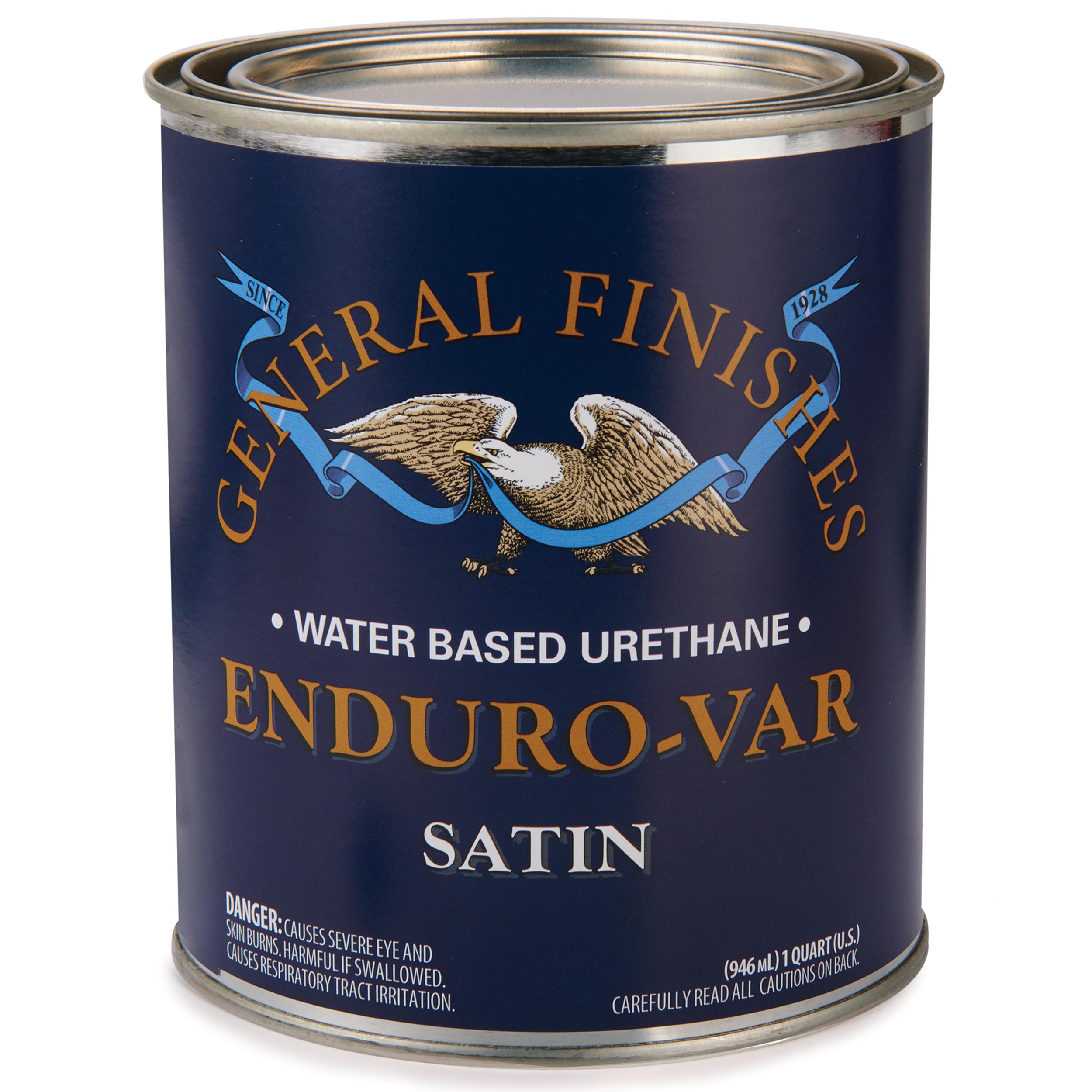 Satin Enduro-Var Varnish Water Based Quart