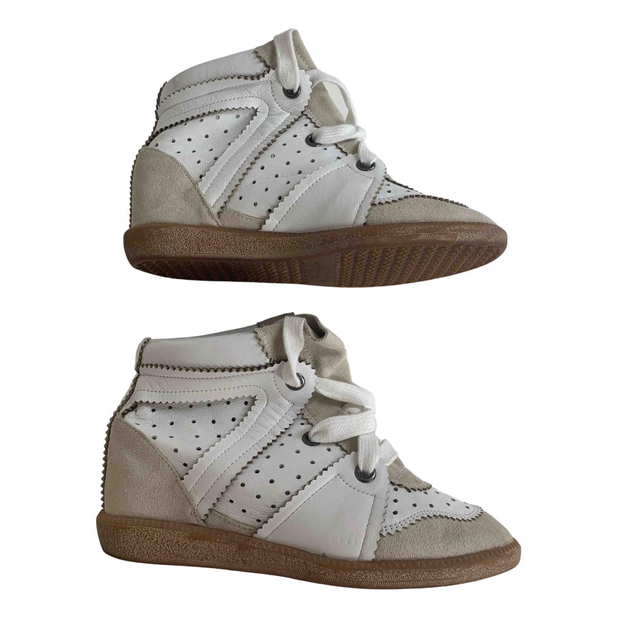 Isabel Marant Betty Sneakers in  Ecru Leder