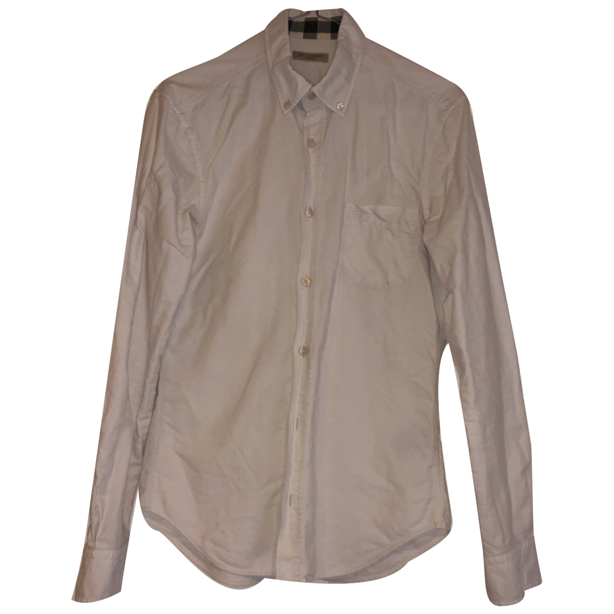 Burberry \N White Cotton Shirts for Men XS International