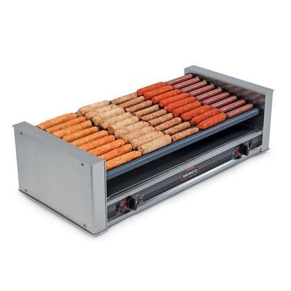 8045W-SLT Wide Slanted Hot Dog Roller Grill - 45 Hot Dog Capacity (120V)  in