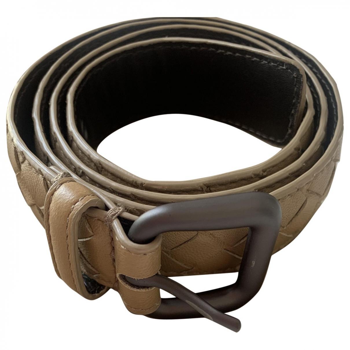 Bottega Veneta N Camel Leather belt for Women 80 cm