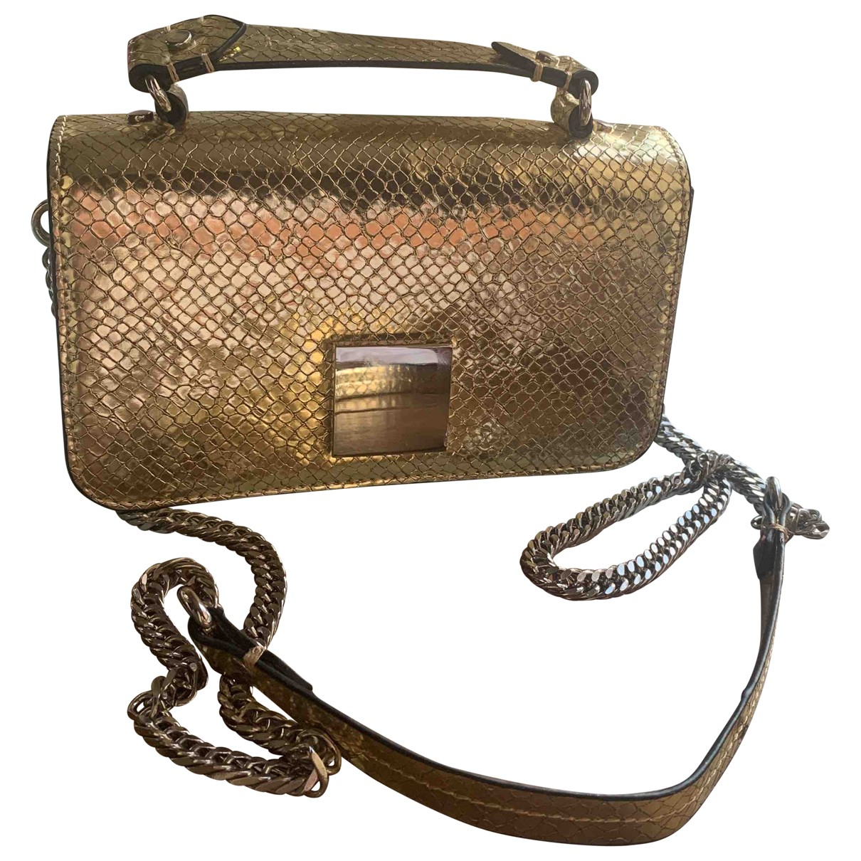 Zara \N Handtasche in  Gold Polyester