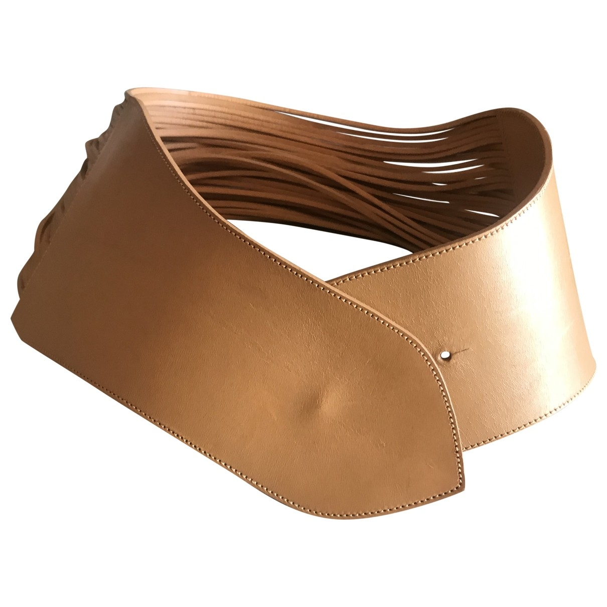 Wolford \N Camel Leather belt for Women 70 cm