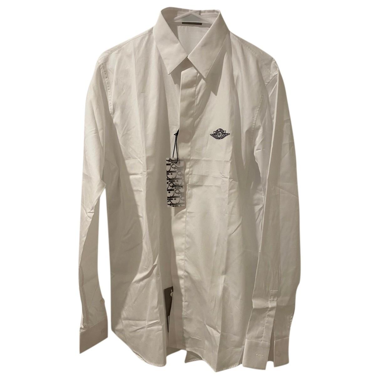 Jordan X Dior - Chemises   pour homme en coton - blanc