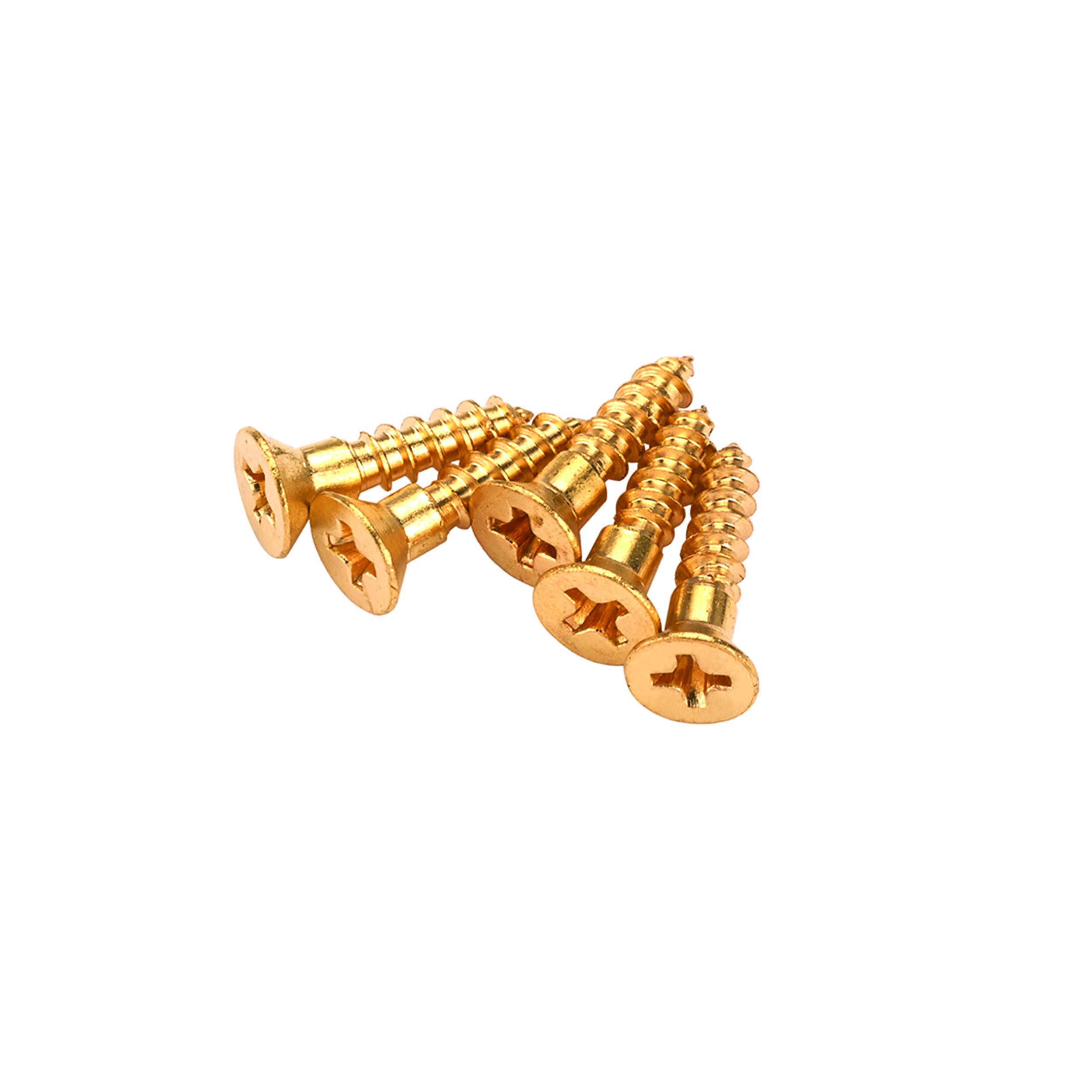 Solid Brass Screws #4 x 1/2