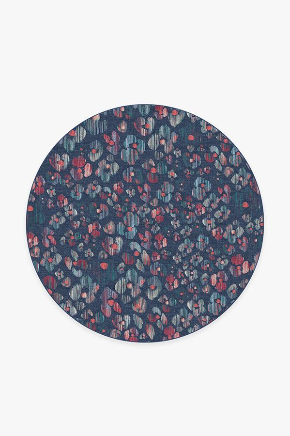 Washable Rug Cover | Ayana Sapphire Rug | Stain-Resistant | Ruggable | 6' Round