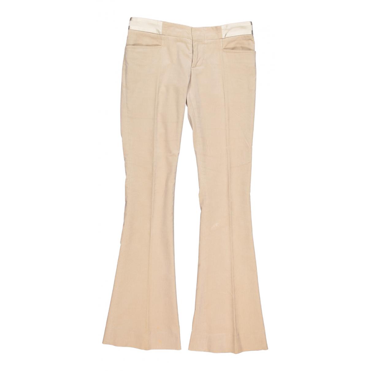 Gucci N Beige Velvet Trousers for Women 40 IT