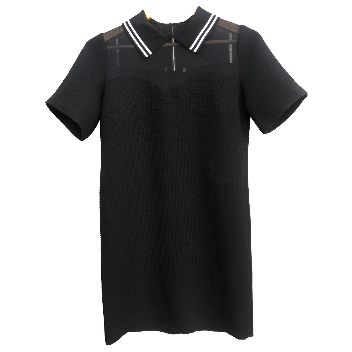 Sandro \N Kleid in  Schwarz Polyester