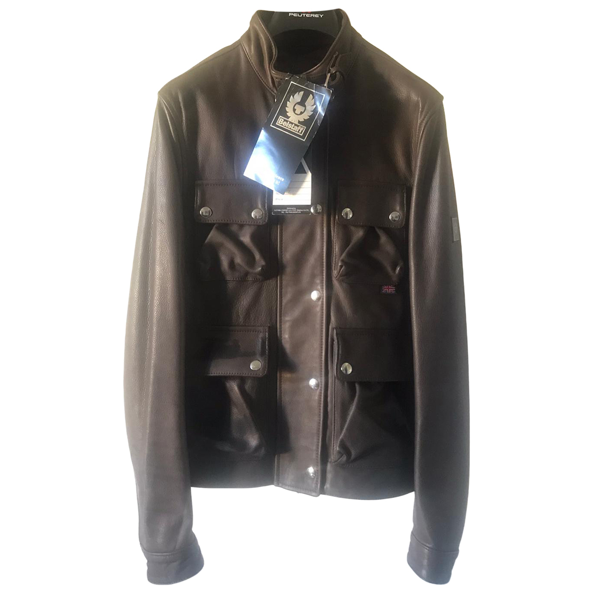 Belstaff N Brown Leather jacket for Women 44 IT