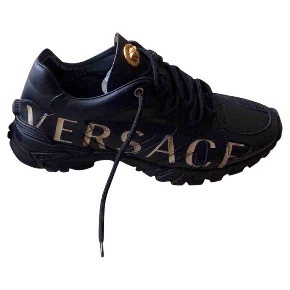 Versace X Kith \N Sneakers in  Schwarz Leder