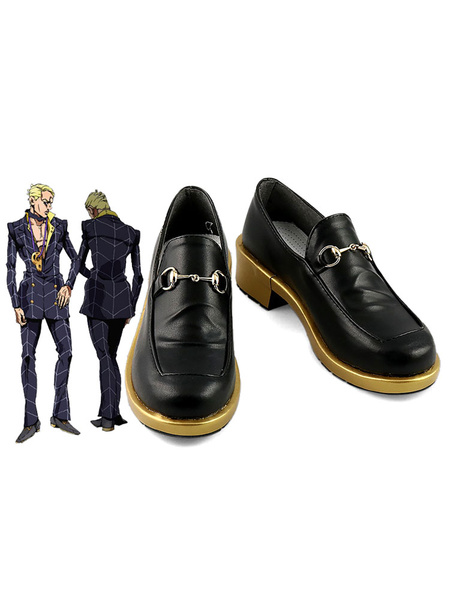 Milanoo Halloween JoJos Bizarre Adventure Vento Aureo Golden Wind Prosciutto Cosplay Zapatos