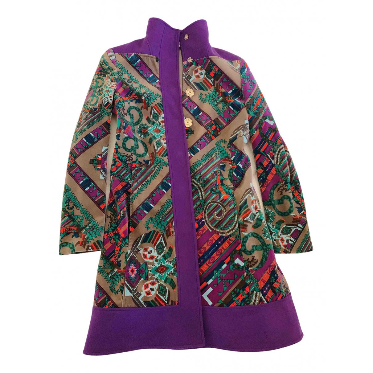 Versace - Manteau   pour femme en laine - multicolore