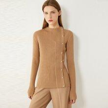 AMII Pearl Button Rib-knit Cardigan