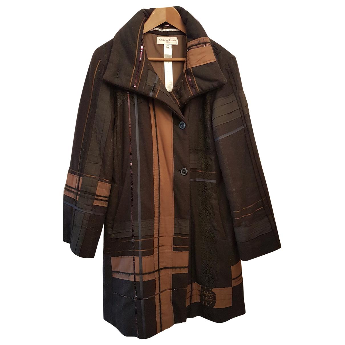 Christian Lacroix - Manteau   pour femme en laine - noir