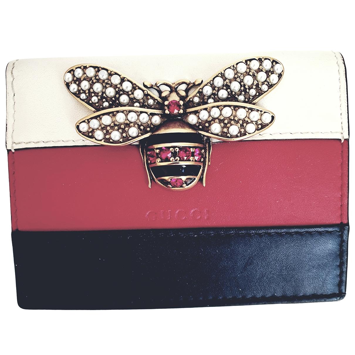 Gucci Queen Margaret Kleinlederwaren in  Bunt Leder