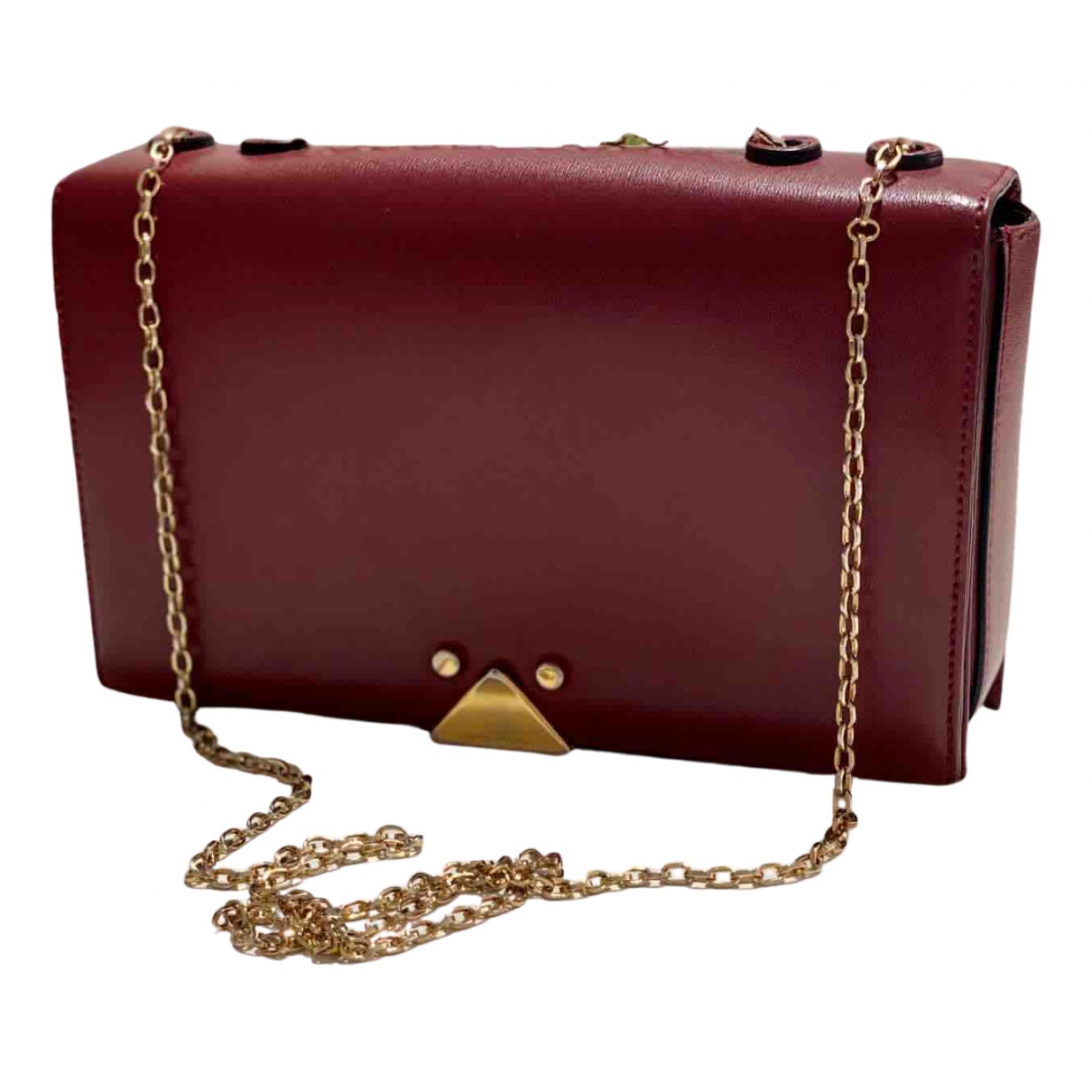 Emporio Armani - Pochette   pour femme en cuir - rouge