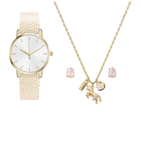 Mixit Womens Gold Tone 2-pc. Watch Boxed Set-7815g-18-B45, One Size , No Color Family