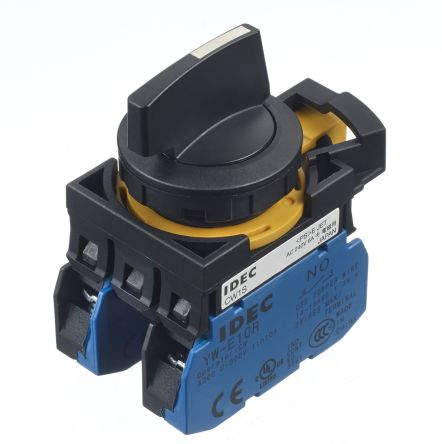 Idec 3 Position Maintained Selector Switch - (DPNO) 22mm Cutout Diameter