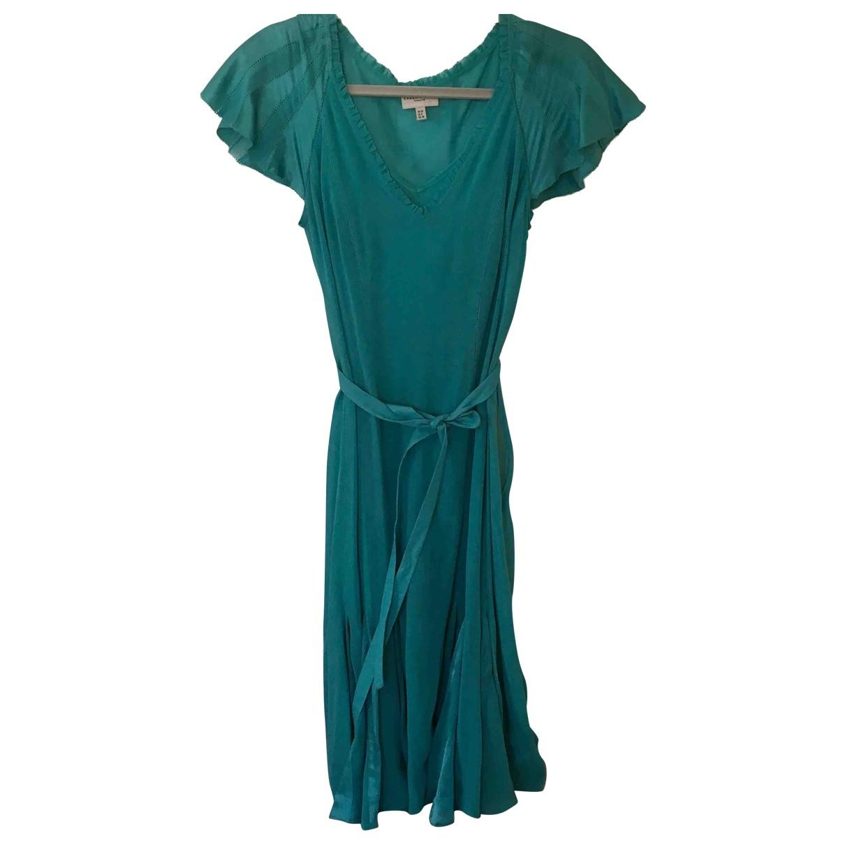 Karen Millen \N Turquoise Silk dress for Women 10 UK