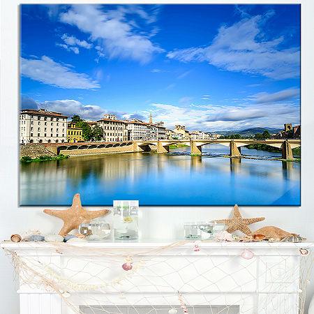 Designart Ponte Alle Grazie Florence Italy Canvas Art, One Size , Blue