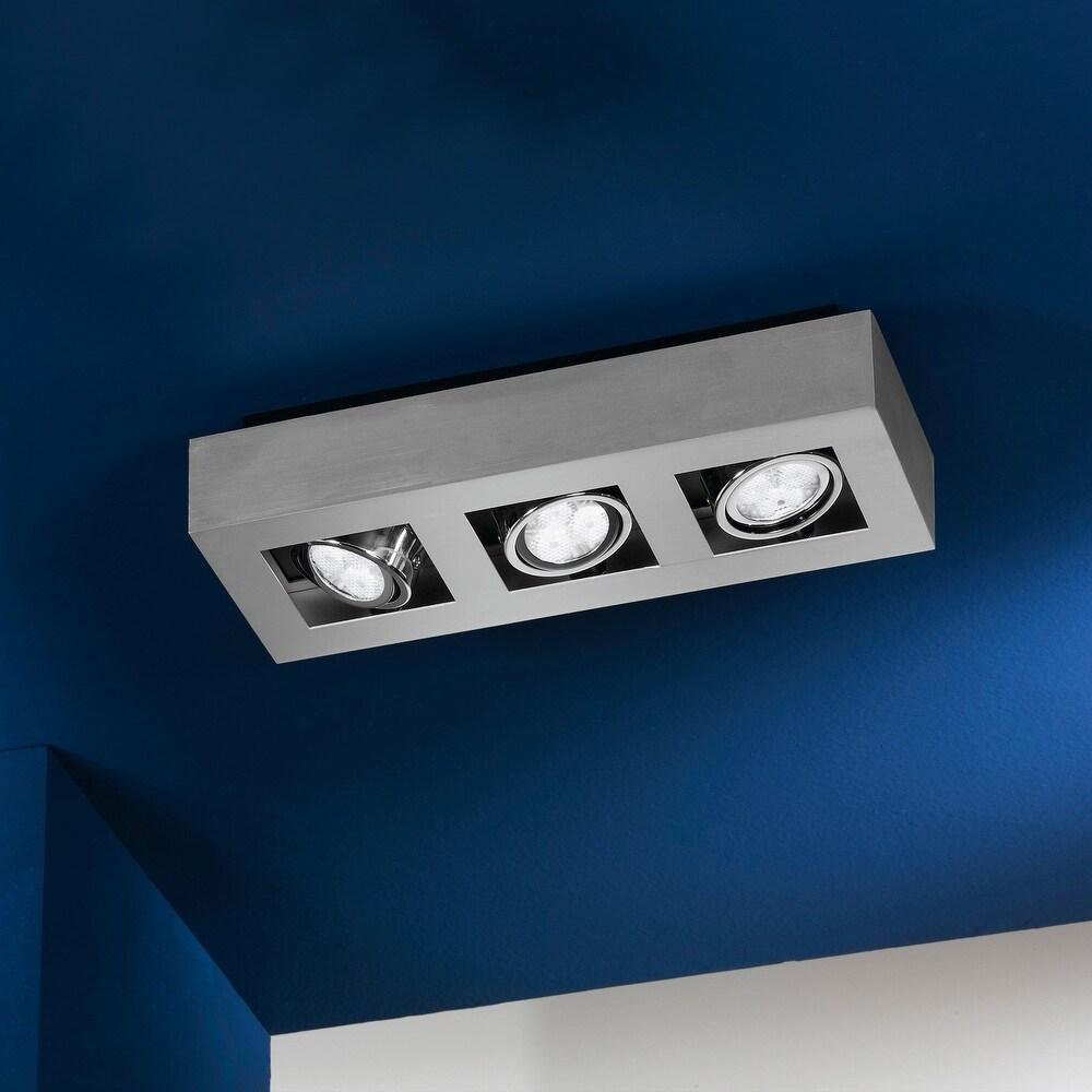 Eglo Loke 3-light Brushed Aluminum and Chrome Track Light (Brushed Aluminum, Chrome, Black)