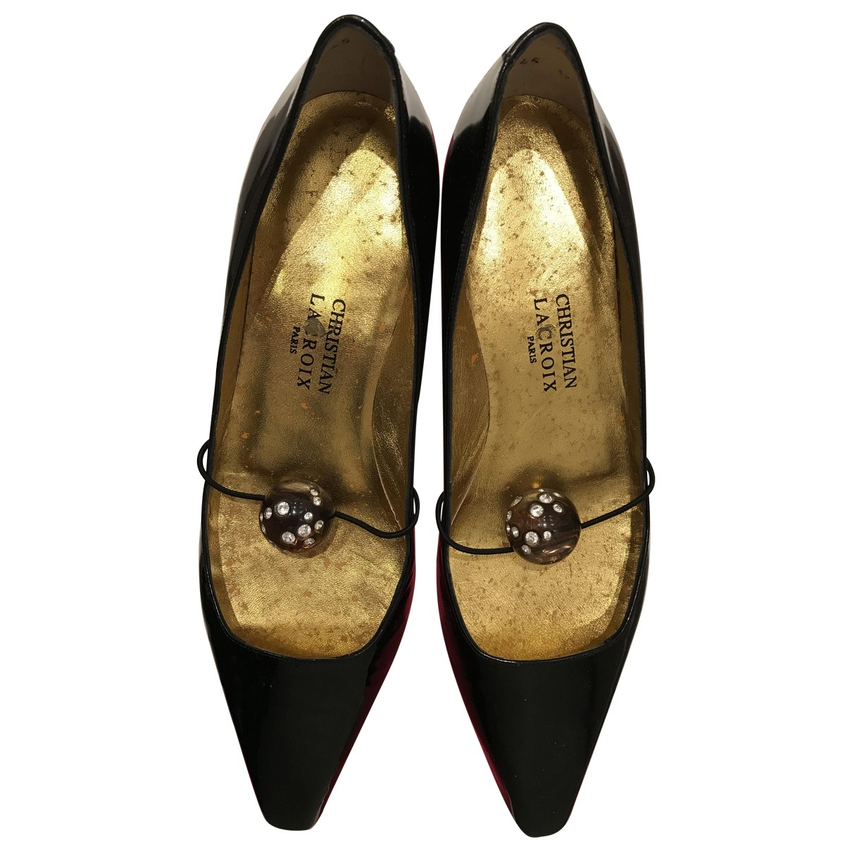 Christian Lacroix \N Black Patent leather Ballet flats for Women 37 EU