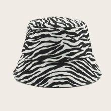 Zebra Stripe Pattern Bucket Hat