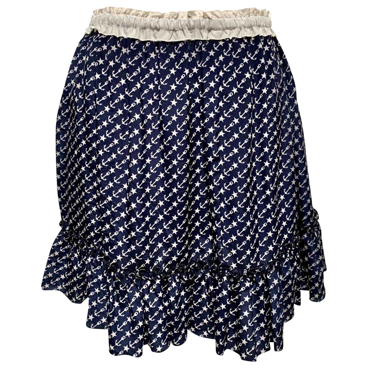 D&g - Jupe   pour femme en soie - bleu