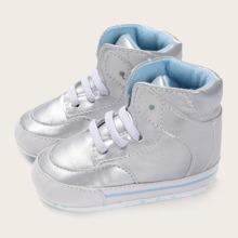 Baby Jungen metallische Sneakers mit hohem Schaft