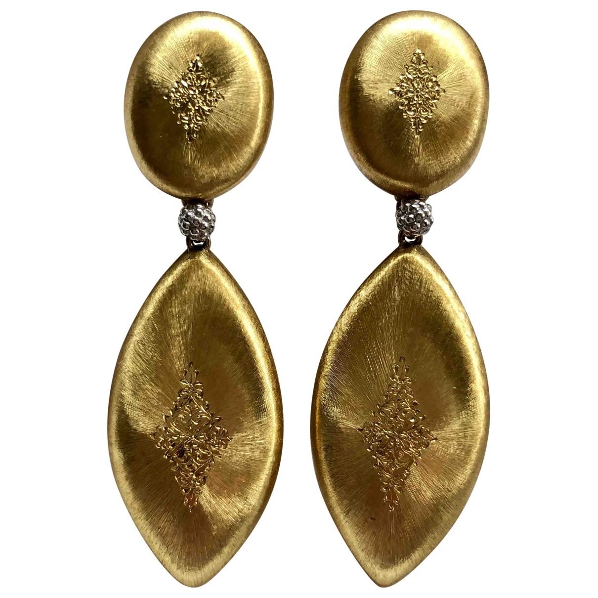 Buccellati - Boucles doreilles   pour femme en or jaune - dore